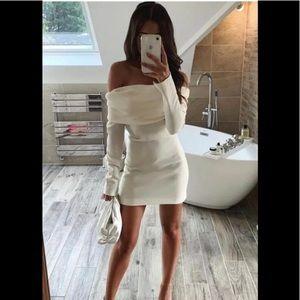New Zara Off Shoulder Butter Top Dress 7992/635